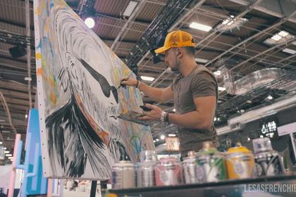 Speed painting lors d'un fashion show à Paris