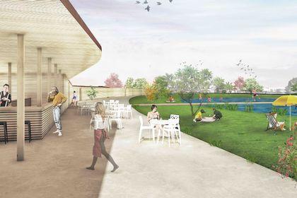 Projet urbain : Vue des bains 1