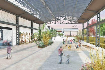 Projet urbain : Vue de la ferme 1