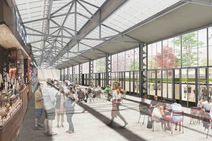 Projet urbain : Vue de la ferme 2
