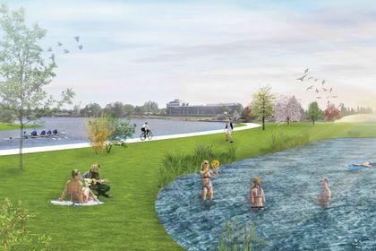 Projet urbain : Vue des bains 2