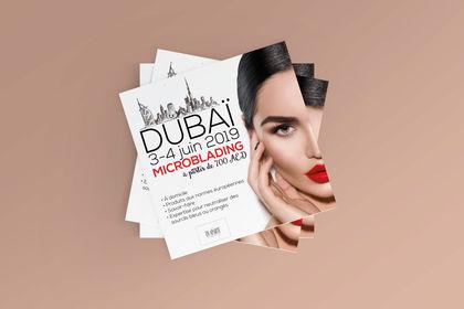 Flyer Microblading Dubaï