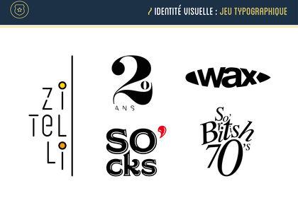 Identité visuelle   Logos typographiques