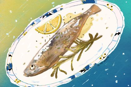 Illustration plat poisson