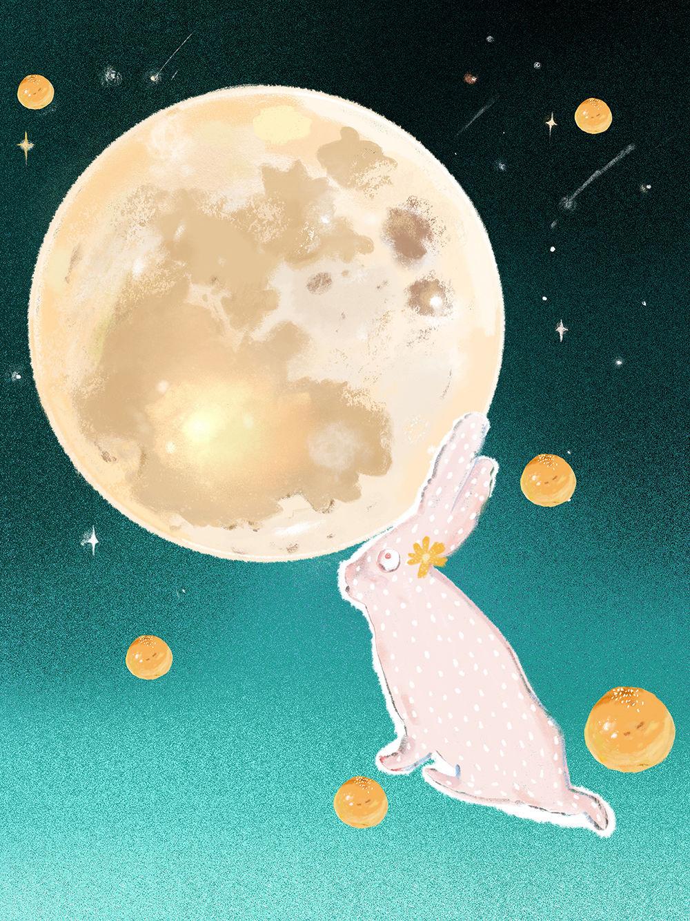 Illustration fête de la lune