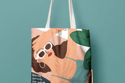 Illustration tote bag pour homysmile