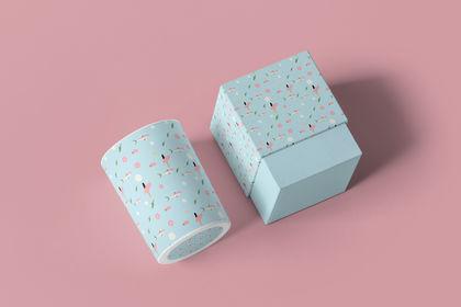 Packaging pattern bougie