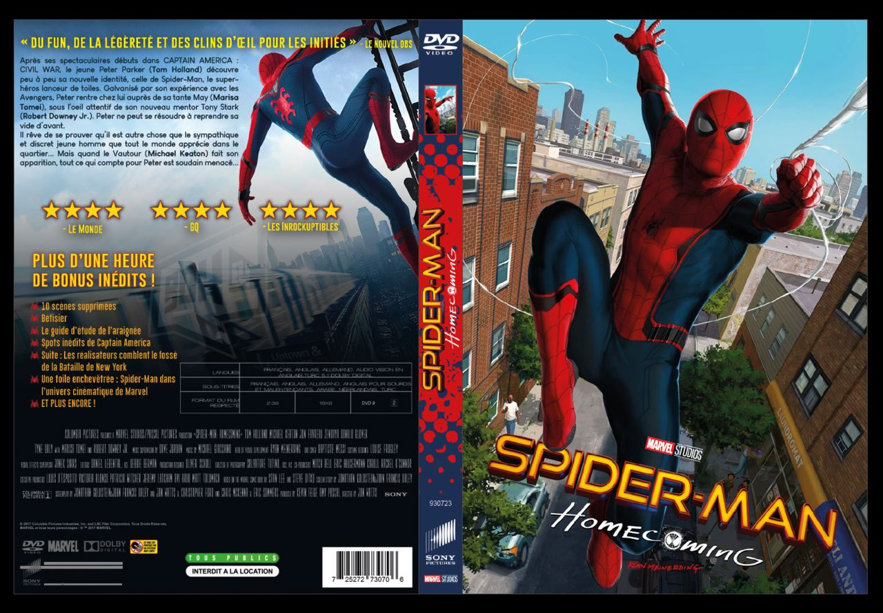 Jaquette DVD Spider-Man Homecoming
