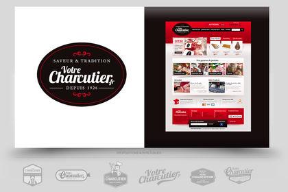 Création logo site ventre en ligne Charcuterie