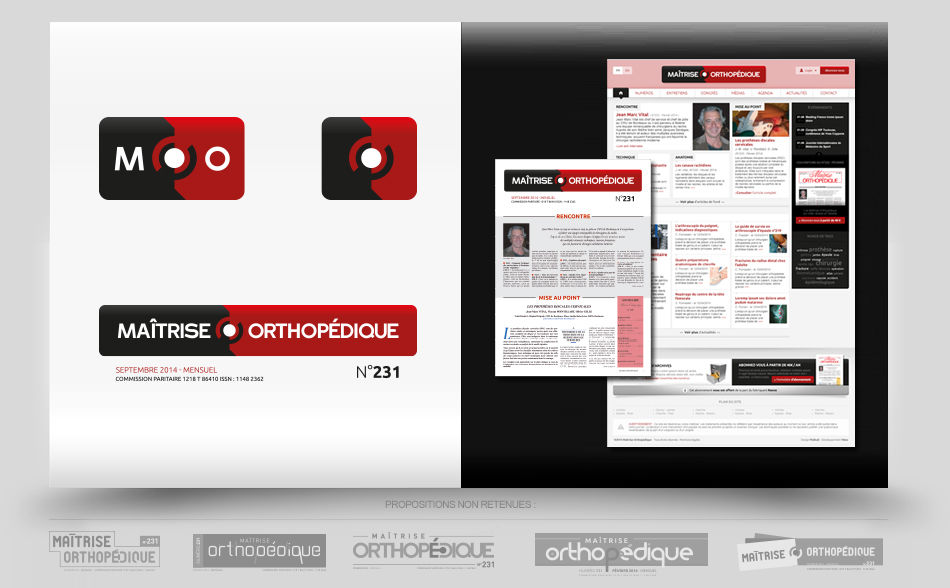 Création logo magazine en ligne, site média