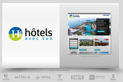 Création logo site hotellerie luxe