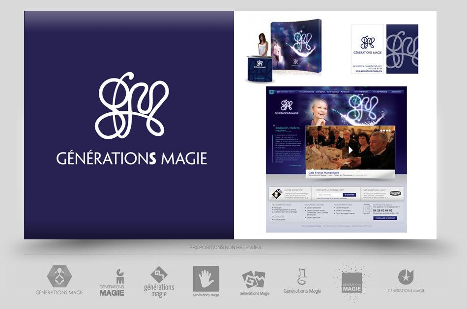 Création logo association spectacle magie