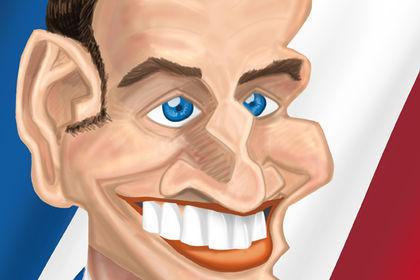 Caricature de Macron
