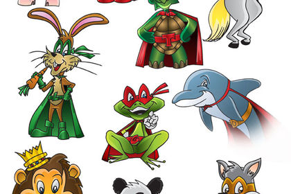 Mascottes Animaux Super-héros