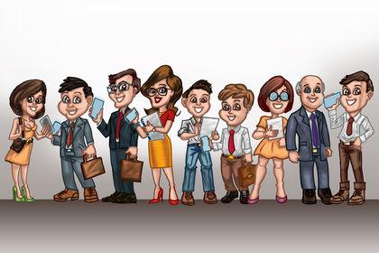 Série de personnages