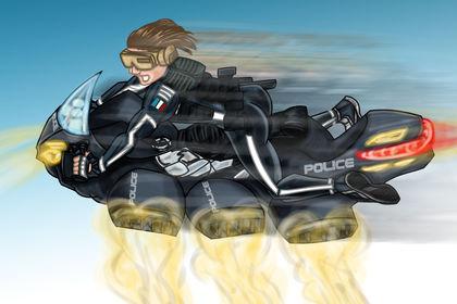Visuel personnel moto futuriste