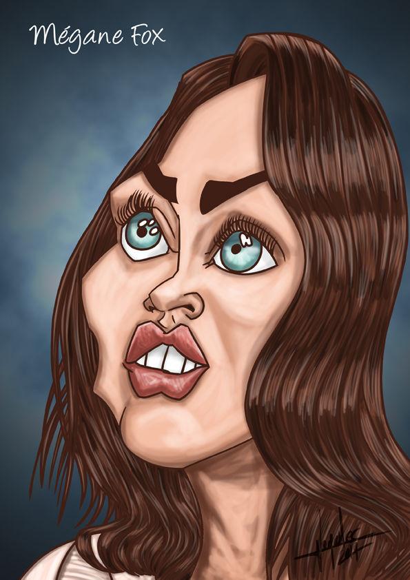 Caricature de Mégane Fox