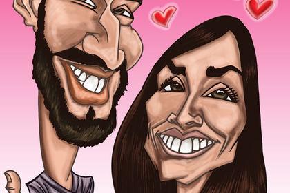 Caricature/Portrait pour un couple
