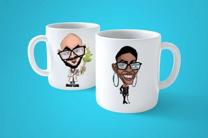 Avatar/Caricature support sur tasse