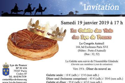 Invitation pour une galette des rois (association)