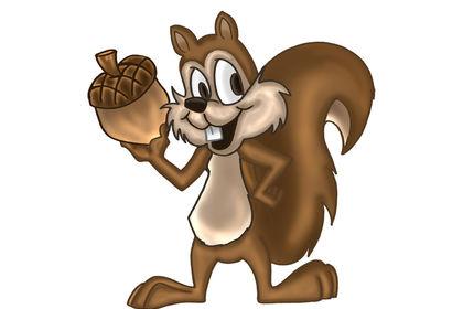 Mascotte d'écureuil