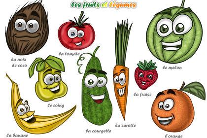 Planche de fruits et légumes