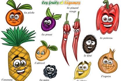 Planche de fruits et légumes Numéro 2