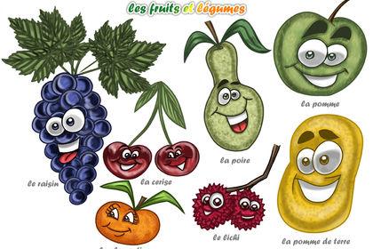 Planche de fruits et légumes Numéro 3