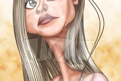 Caricature/portrait d'Elle Fanning