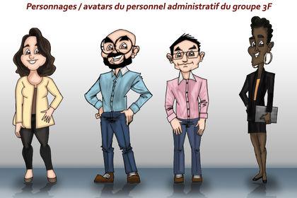 Personnages / avatars du personnel administratif d