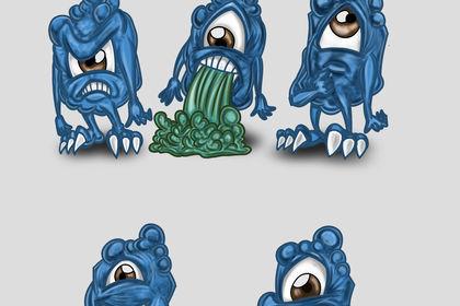 Personnage de Monstre bleus