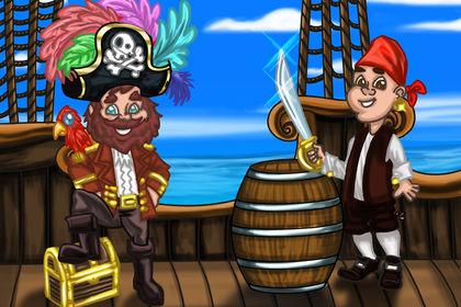 Visuel sur le thème  des pirates