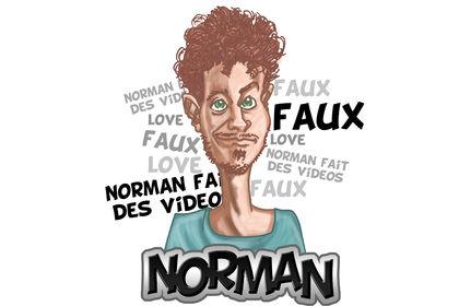 Mascotte/avatar parodique pour Norman