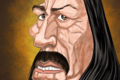 Caricature de l'acteur Danny Trejo