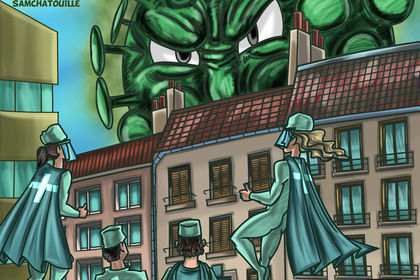 Parodie couverture Comics sur le Covid-19