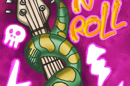 Affiche pour concert de Rock'nRoll