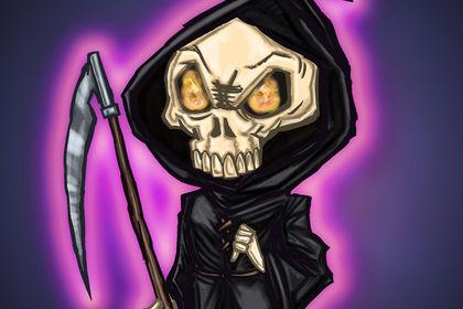 Personnage d'Halloween [la mort]