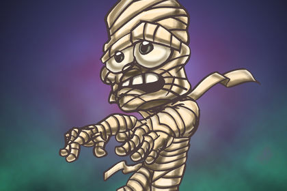 Personnage d'Halloween [la Momie]