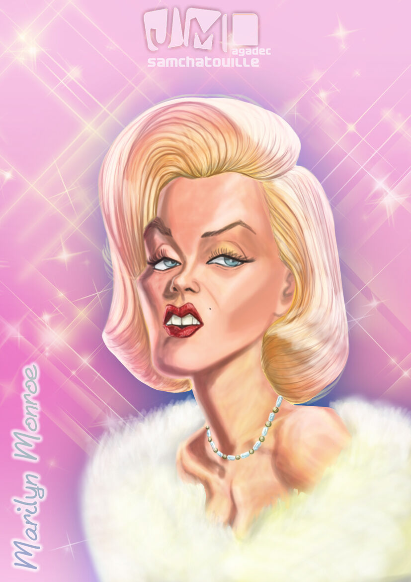 Maryline Monroe (peinture numérique)