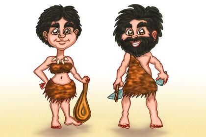 Personnage Cro-Magnon (Femme et Homme)