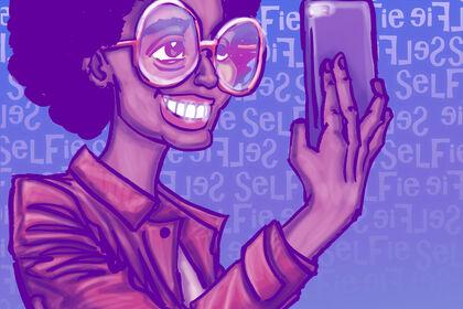 Visuel sur le phénomène des selfies
