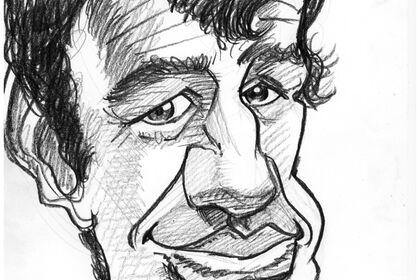 Portrait/caricature de Belmondo au crayon