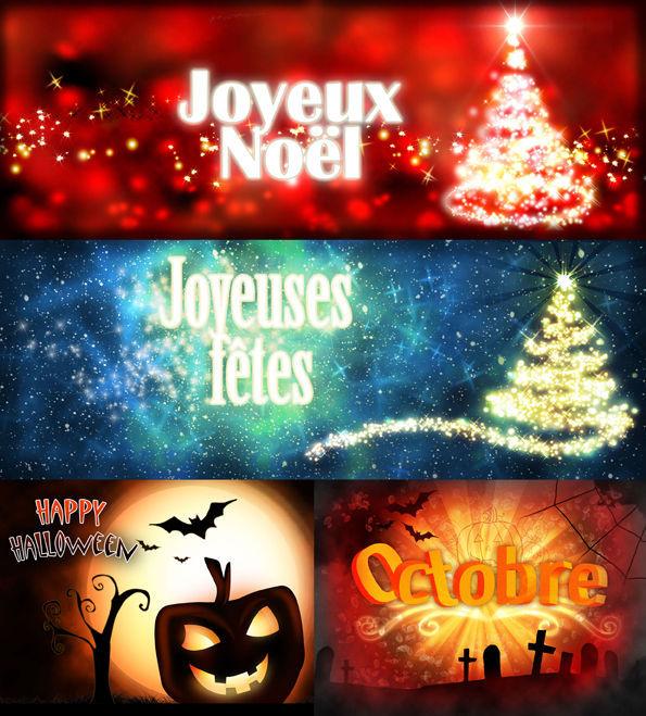 Bannière web pour différents moments de l'année