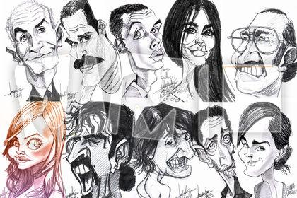 Caricatures de personnalités