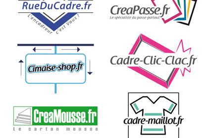 Ensemble de logo pour l'entreprise France-Shop