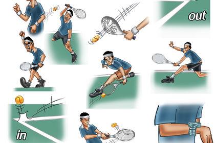 Visuels sur le monde du Tennis