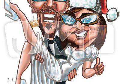 Caricature pour un faire-part de mariage