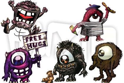 Série de petits monstres