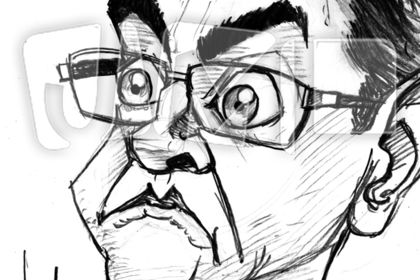 Caricature de Jean-Luc Mélanchon