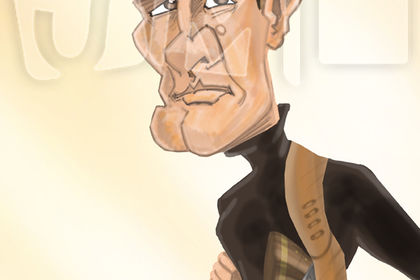 Caricature Roger Moore